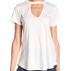 NEW Lush Women Gigi Collar V-Neck Tee Shirt XS
